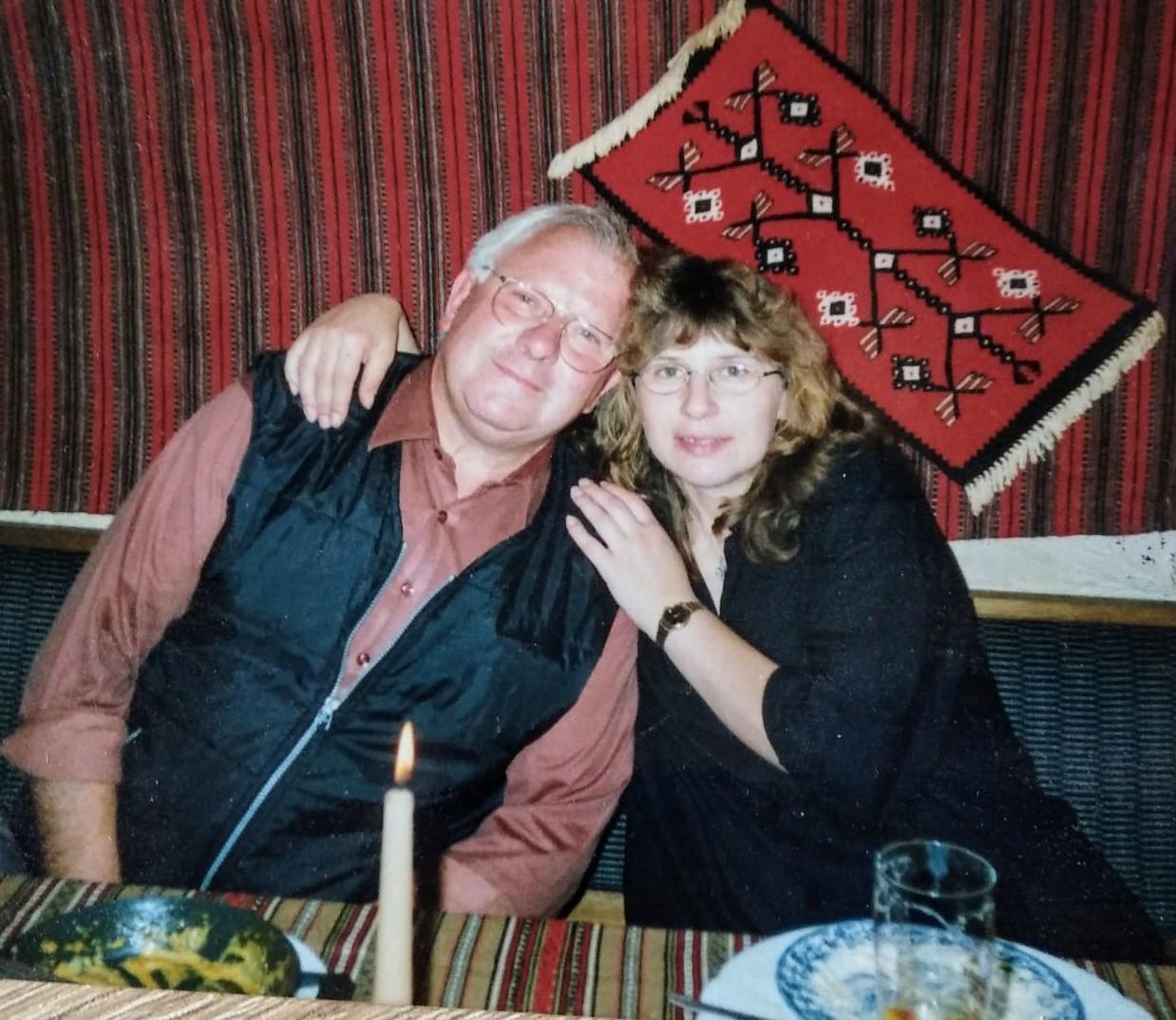 Fatima Bonhage mit ihrem Vater.